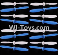 SongYang Toys X24 Spare Parts-10 Propellers,Main rotor blades(16pcs)-8X Blue,8X White,SY X24 RC Quadcopter Spare parts Accessories,SongYang Toys X24 RC Drone Replacement Parts