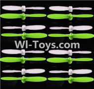 SongYang Toys X24 Spare Parts-11 Propellers,Main rotor blades(16pcs)-8X Green,8X White,SY X24 RC Quadcopter Spare parts Accessories,SongYang Toys X24 RC Drone Replacement Parts
