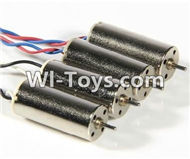 SongYang Toys X24 Spare Parts-13 rotating Motor with red and blue wire(4pcs-CW) & Reversing-rotating Motor with black and white wire(4pcs-CCW),SY X24 RC Quadcopter Spare parts Accessories,SongYang Toys X24 RC Drone Replacement Parts