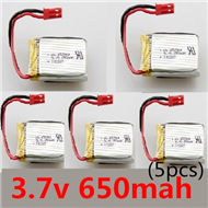 SongYang toys X25 Parts-33 Official 3.7V 650mah battery(5pcs) For the SY X25 UFO X-25 RC Quadcopter