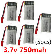 SongYang toys X25 Parts-34 Upgrade 3.7V 750mah battery(5pcs) For the SY X25 UFO X-25 RC Quadcopter