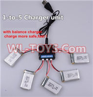 SongYang toys X3 Parts-22 Upgrade 1-to-5 charger and balance charger(Not include the 5 battery) for the SongYang X3 Quadcopter SY X3 UFO rc drone