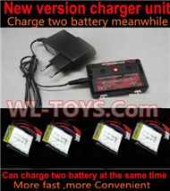 SongYang toys X6 Parts-22 Upgrade New version charger and balance charger-Can charge two battery at the same time & 4pcs Official 600mah Battery