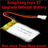 SongYang toys X7 Parts-16 Official 3.7v 500mah 25c battery for SongYang X6 Quadcopter(1pcs)