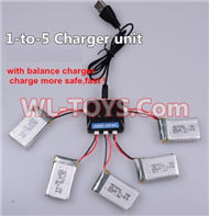 SongYang toys X7 Parts-22 Upgrade 1-to-5 charger and balance charger(Not include the 5 battery)