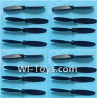 Subotech S660 Spare Parts-10 Propellers,Main rotor blades(16pcs)-Black,Subotech S660 RC Quadcopter Spare Parts Accessories,Subotech S660 RC  Drone Replacement Parts