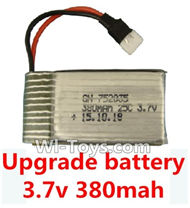 Subotech S660 Spare Parts-18 Upgrade Battery 3.7v 380mah 25C(Size-3.9X2X0.7CM)-1pcs,Subotech S660 RC Quadcopter Spare Parts Accessories,Subotech S660 RC  Drone Replacement Parts