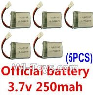 Subotech S660 Spare Parts-19 Official 3.7v 250mah battery(5pcs),Subotech S660 RC Quadcopter Spare Parts Accessories,Subotech S660 RC  Drone Replacement Parts