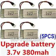 Subotech S660 Spare Parts-21 Upgrade Battery 3.7v 380mah 25C(Size-3.9X2X0.7CM)-5pcs,Subotech S660 RC Quadcopter Spare Parts Accessories,Subotech S660 RC  Drone Replacement Parts