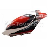Subotech S900 Parts-02 Head cover,Canopy-Red For Toruk arokto Subotech S900 helicopter parts