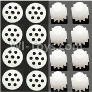 31-Main gear(8pcs) & Small motor gear(8pcs) For SYMA X5 X5C Quadcopter parts,SYMA X5 X5C Parts
