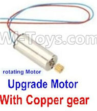 40-Upgrade rotating Motor with red and Blue wire(1pcs)-With copper gear For SYMA X5 X5C Quadcopter parts,SYMA X5 X5C Parts