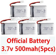 SYMA X5C Parts-44 Official 3.7v 500mah battery(5pcs) For SYMA X5C Quadcopter parts,X5C UFO Parts