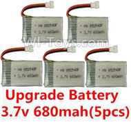 SYMA X5C Parts-45 Upgrade 3.7v 680mah battery(5pcs) For SYMA X5C Quadcopter parts,X5C UFO Parts