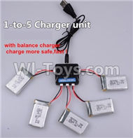 SYMA X5C Parts-48 Upgrade 1-to-5 charger and balance charger(Not include the 5 battery) For SYMA X5C Quadcopter parts,X5C UFO Parts