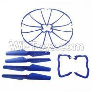 60-Outer protect frame & Tripod(2pcs) & Propellers(4pcs)-All Blue color For SYMA X5 X5C Quadcopter parts,SYMA X5 X5C Parts