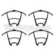 UDI U818S U842 U842-1 RC Quadcopter parts-04 Outer protect frame for the blades-Black(4pcs)