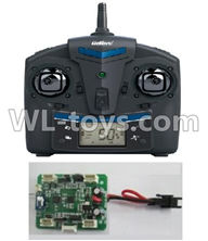 UDI U818S U842 U842-1 RC Quadcopter parts-11 Transmitter & Circuit board,Receiver board