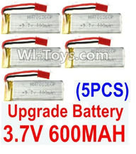 UDI U819 U819A Parts-25 Upgrade 3.7v 600mah battery(5pcs)-Size-64X17X8.5MM for UDIR/C U819 U819A Quadcopter parts,rc Drone spare parts