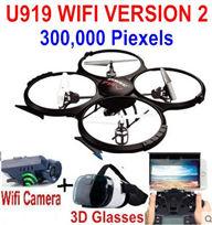 UDIR/C U919A Quadcopter(include the 300,000 Pixels wIFI camera unit, and 3D VR Glassess) for UDIR/C U919 U919A Quadcopter parts,rc Drone spare parts