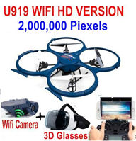 UDIR/C U919A Wifi Quadcopter(include the 2,000,000 Pixels Wifi camera unit, and 3D VR Glassess) for UDIR/C U919 U919A Quadcopter parts,rc Drone spare parts