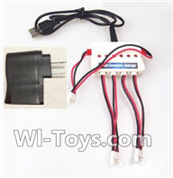 UDI U945 U945A Parts-07 Upgrade 1-to-3 charger with balance charger & USB-to-Socket Conversion plug For UDIR/C U945 U945A Six-axis aircraft Parts,rc Quadcopter drone parts