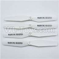 Visuo XS809HW XS809W Parts-Upgrade Propellers Parts,Main rotor blades(4pcs)-White