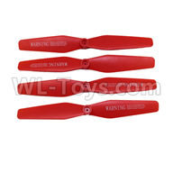 Visuo XS809HW XS809W Parts-Upgrade Propellers Parts,Main rotor blades(4pcs)-Red