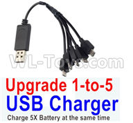 Visuo XS809HW XS809W Parts-Upgrade 1-to-5 USB Charger(Charge 5 Battery at the same time )