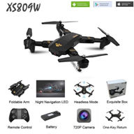 Visuo XS809W Drone,Foldable Selfie Drone((Include the 5,000,000 Pixels Wide angle wifi Camera unit and With Altitude Hold))