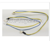 Wltoys Q373 Q373-B-E-C Parts-15 Yellow Blue Motor Line Group,Wltoys Q373 Q373-B Q383-E Q383-C RC Hexacopter Quadcopter Drone Spare Parts Accessories,Wltoys Model Q373 Replacement Accessories