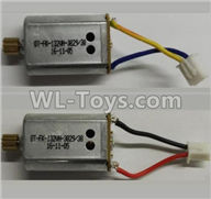 Wltoys Q373 Q373-B-E-C Parts-24-02 Reversing-rotating Motor with Black and Yellow wire(1pcs) & rotating Motor with red and Black wire(1pcs),Wltoys Q373 Q373-B Q383-E Q383-C RC Hexacopter Quadcopter Drone Spare Parts Accessories,Wltoys Model Q373 Replaceme