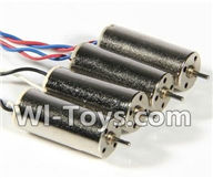 Wltoys Q242 Q242G DQ242 Q242K Parts-09 rotating Motor with red and blue wire(4pcs-CW) & Reversing-rotating Motor with black and white wire(4pcs-CCW) For WLTOYS DQ242 Q242 Q242G Q242K RC Quadcopter parts RC Drone parts