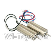 Wltoys Q242 Q242G DQ242 Q242K Parts-10 rotating Motor with red and blue wire(1pcs-CW) & Reversing-rotating Motor with black and white wire(1pcs-CCW) For WLTOYS DQ242 Q242 Q242G Q242K RC Quadcopter parts RC Drone parts