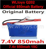 Wltoys Q202 Quadcopter parts-36 Official 7.4v 850mah battery