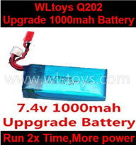 Wltoys Q202 Quadcopter parts-37 Upgrade 7.4v 1000mah 20C Battery-Fly more time,More power