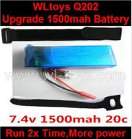 Wltoys Q202 Quadcopter parts-38 Upgrade 7.4v 1500mah 20c battery-Fly 2x more time,More power