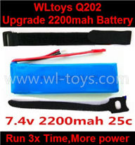 Wltoys Q202 Quadcopter parts-39 Upgrade 7.4v 2200mah 25c battery-Fly 3x more time,More power