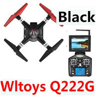 Wltoys Q222G Quadcopter-Black(Include the 5.8G HD Camera,Support frame And 5.8G Real-time image transmission FPV Aerial Receiving Screen with Antena) Medium-Quadcopter-all FPV-Quadcopter-all Wltoys-Quadcopter-all