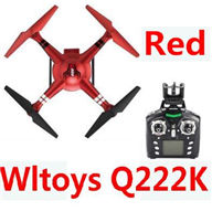 Wltoys Q222K Quadcopter-RED(Include the Wifi Camera and Support frame.Can use your Wifi to view the 5.8G Real-time image transmission FPV Aerial Video)