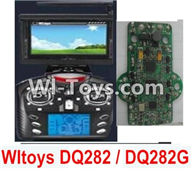 Wltoys Q282 parts-28 Transmitter And Circuit board(Include the 5.8G Image Return Display,Can only be used For DQ282 DQ282G Quadcopter) For WLTOYS Q282 RC Quadcopter parts RC Drone parts