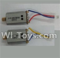 Wltoys Q303 Spare parts-30-02 Reversing-rotating Motor with Blue and Yellow wire(1pcs) & Rotating Motor with red and Blue wire(1pcs),Wltoys Q303 RC Quadcopter Drone Spare Parts Accessories,Wltoys Model Q303-A Q303-B Q303-C Replacement Accessories