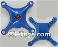 Wltoys Q343 Spare Parts-01-01 Upper and Bottom shell cover cover-Blue,Wltoys Q343 RC Quadcopter Drone Spare Parts Accessories,Wltoys Model Q343 Q343B Q343C Replacement Accessories