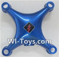 Wltoys Q343 Spare Parts-01-02 Upper shell cover cover-Blue,Wltoys Q343 RC Quadcopter Drone Spare Parts Accessories,Wltoys Model Q343 Q343B Q343C Replacement Accessories