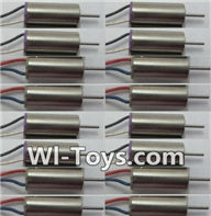 Wltoys Q343 Spare Parts-07-02 clockwise rotating Motor with Red and Blue wire(8pcs) & counterclockwise Reversing-rotating Motor with Black and white wire(8pcs),Wltoys Q343 RC Quadcopter Drone Spare Parts Accessories,Wltoys Model Q343 Q343B Q343C Replaceme