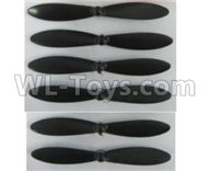 Wltoys Q383-A Q383-B Q383-C Spare Parts-08-02 Propellers,Mai rotor blades(6pcs),Wltoys Q383 Q383-A Q383-B Q383-C RC Hexacopter Quadcopter Drone Spare Parts Accessories,Wltoys Model Q383 Replacement Accessories