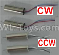 Wltoys Q383-A Q383-B Q383-C Spare Parts-18-02 Main motor with Red and Blue wire(2pcs) & Main motor with Black and White(2pcs),Wltoys Q383 Q383-A Q383-B Q383-C RC Hexacopter Quadcopter Drone Spare Parts Accessories,Wltoys Model Q383 Replacement Accessories