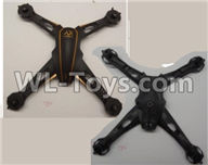 Wltoys Q616 Parts-01-01 Upper and bottom shell cover,Wltoys Q616 RC Quadcopter Drone Spare Parts Accessories,Wltoys Model Q616 Replacement Accessories