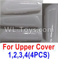 Wltoys Q616 Parts-03-01 Number 1.2.3.4 lamp cover for the Upper shell cover(4pcs),Wltoys Q616 RC Quadcopter Drone Spare Parts Accessories,Wltoys Model Q616 Replacement Accessories
