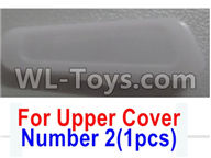 Wltoys Q616 Parts-04 Number 2 Rear Right lamp cover for the Upper shell cover,Wltoys Q616 RC Quadcopter Drone Spare Parts Accessories,Wltoys Model Q616 Replacement Accessories